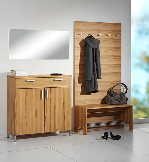 Garderobe Cubik in Kernbuche