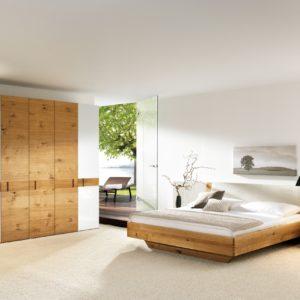 Schlafzimmer Rio in mit Glas und Polster in Asteiche